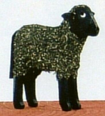 Black Sheep German Wood Miniature Handcrafted in Erzgebirge Germany New Mini