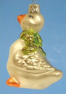 Goose German Glass Christmas Tree Ornament
