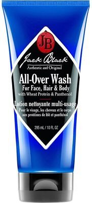 Jack Black All-Over Wash for Face, Hair & Body 10 oz 295 ml