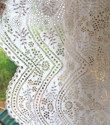 Antique Eyelet Embroidered Panel For Project Snow White