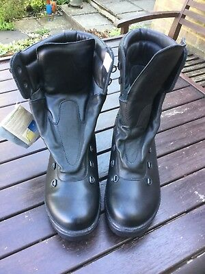British Army Cold Weather Black Goretex Lined Military Boots