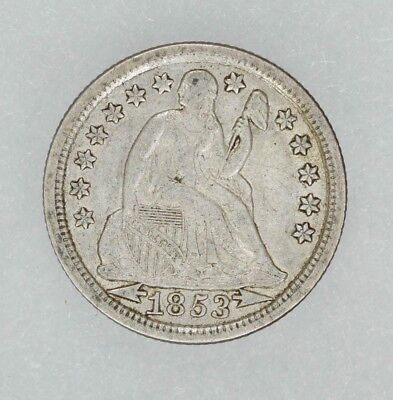 1853 Seated Liberty Dime 10C Arrows Original Choice Au About Uncirculated (4560)