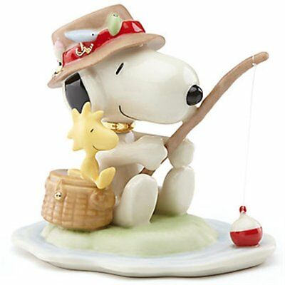 Lenox Peanuts Fishing Buddies Snoopy and Woodstock Porcelain Figurine 857746 New