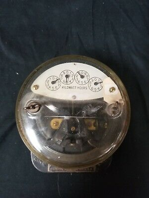 Vintage Single Phase WattHour Meter General Electric Last Checked 6-17-48