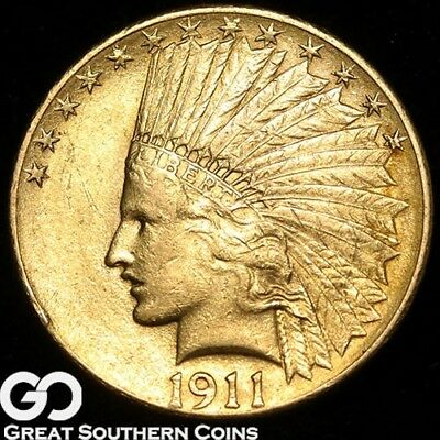 1911 Gold Eagle, $10 Gold Indian, Nice Rich Golden Look, ** Free Shipping!
