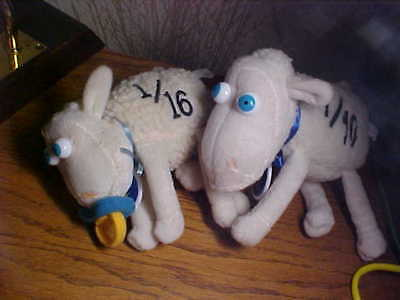 Two Baby Serta Collectible Sheep, Numbers 1/16 And 7/10