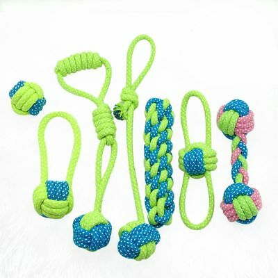 Grinding Teeth Cat Chew Dog Rope Ball Knot Pet Toys