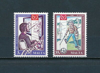 Malta  589-90 MNH, Year of the Disabled , 1981