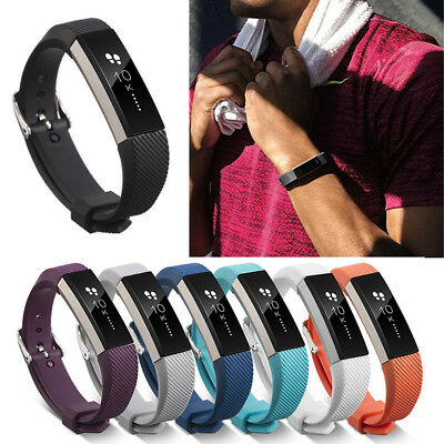 Replacement Silicone Wrist Band Strap Clasp Buckle Fashion For Fitbit Alta / HR