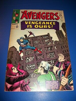 Avengers #20 Silver Age Captain America Quicksilver Scarlet Witch Fine Beauty