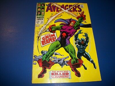 Avengers #52 Silver Age Black Panther  Wow 1st Grim Reaper