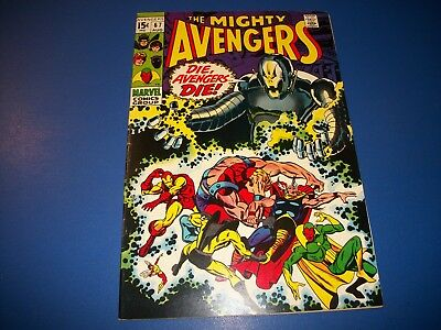 Avengers #67 Silver Age 1st Ultron Cover Key Wow Vision Barry Smith Fine Beauty