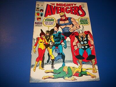 Avengers #68 Silver Age Vision Wow Ultron
