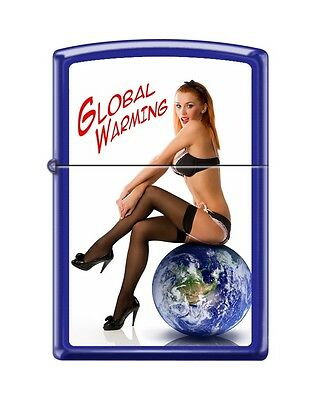"""Zippo Pin-Up Lighter/""""global Warming""""-1St Release-Rare-Ltd Production-Fast Ship"""