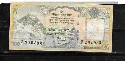 NEPAL 64b 2008 100 RUPEES VG USED BANKNOTE PAPER MONEY CURRENCY BILL NOTE