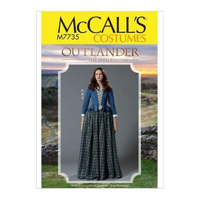 McCALL'S SEWING PATTERN MISSES' OUTLANDER COSTUME SIZE 6-22 M7735