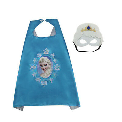 Girls Princess Costumes Dress Capes Masks for Princess Party Fancy Cosplay Dress