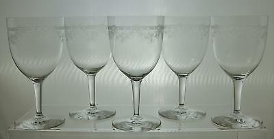 19th Century Etched Wine Glasses Unknown Maker    -  Sale This Week
