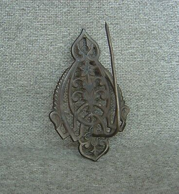Vintage Ornate Receipt Bill Holder with Spike Cast Iron Wall Mount Free Shipping