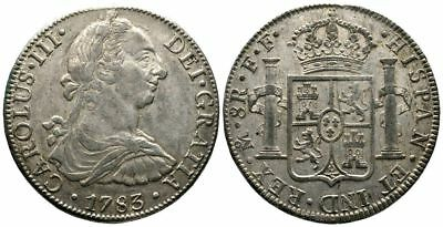 Lanz Spain Mexico Charles Iii Bourbon 8 Reales 1783 Spain ^fmg4040