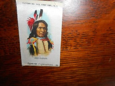 Tokio Cigarettes antique tobacco silk with native, Red Cloud, #11