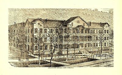 1878 Arlington Hotel, Hot Springs, Arkansas Hotel Scene Advertisement