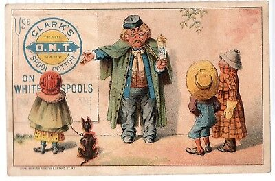 Vintage Victorian Trade Card. Clark's Spool Cotton, Thread,