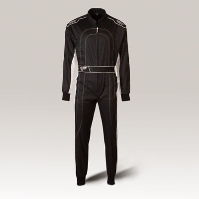 Speed Overall Denver HS-2 Kartoverall, Hobby Rennoverall schwarz-weiss suit
