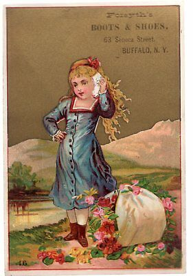 Vintage Victorian Trade Card. Forsyth's Boots And Shoes, Buffalo New York