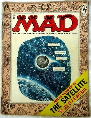 Mad Magazine #26 Nov 1955! FINE-/FINE! $0.99 Start! A SOLID GOOD-LOOKING Copy!!