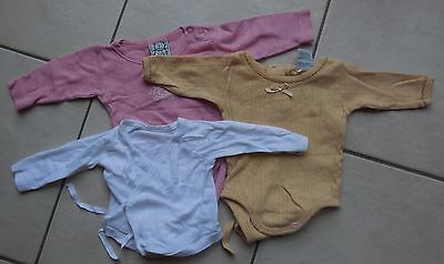 2 body + 1 chemise manches longues 50-56