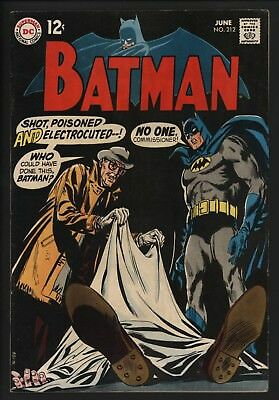 Batman #212 Great Irv Novick Art From 1969 Tight Glossy Cents. White Pages