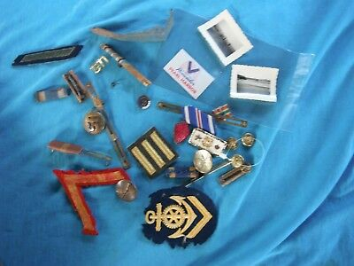 US Army lot insignia, ribbons, patches, Pearl Harbor sticker
