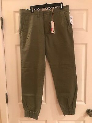 6c3871ff1f Vans Excerpt Chino Pegged Pants Size 34 Olive Green Brand New With Tags