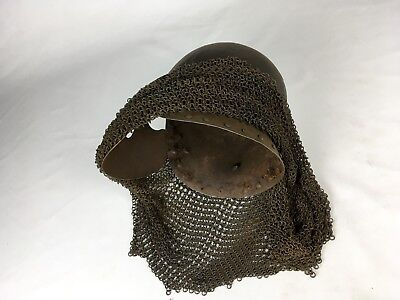 Antique Old Medieval Half Armor With Helmet