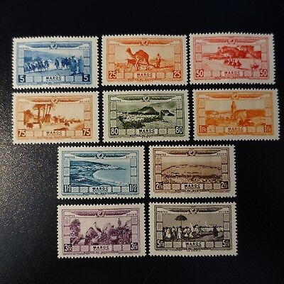 France Colony Morocco Post Aerial Pa N°12/21 Neuf Value