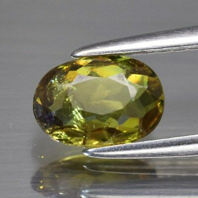 0.80ct 7x5mm Oval Natural Greenish Yellow Demantoid Garnet, Madagascar