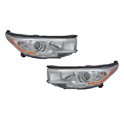 New Pair Of Head Lights Fits Toyota Highlander 2014-2016 81110-0E180 To2502221