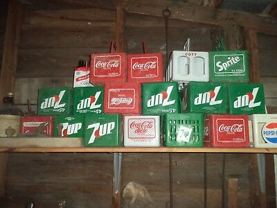 vente de succession caisse de liqueur antique 1 plastic 6 pack Cola carrier 7UP