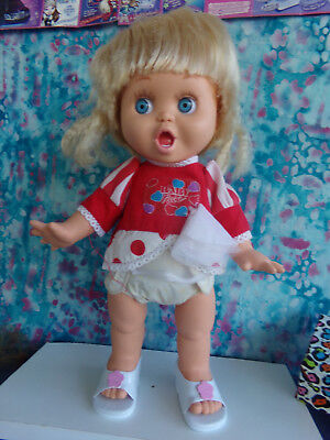 Galoob Baby Face Doll So Suprised Susie In Original Outfit Diaper Shoes