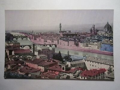 Old Postcard, PANORAMIC VIEW OF FLORENCE, ITALY