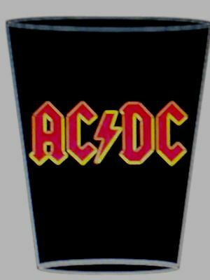 Ac/dc Black With Red Logo Shot Glass New