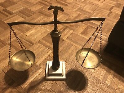 Vintage Balance Scale of Justice with Eagle Brass Irving Schwartz & Co.