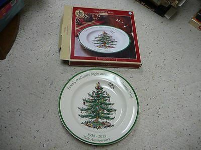 Spode Christmas Tree Collection Dinner Plate 75th Anniversary NIB 10.5 inch