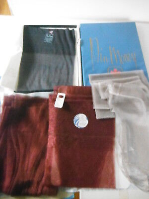 4 Pr VINTAGE STOCKINGS New Boxed - Berkshire Pin Money - Wine Shimmer -Navy  9.5