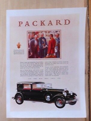 1929 magazine ad for Packard - US Ambassadors to Europe, Principle before profit