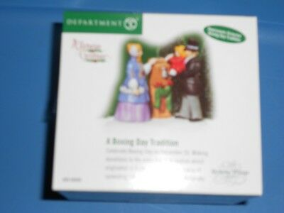 DEPT 56 DICKENS' VILLAGE Accessory A BOXING DAY TRADITION NIB