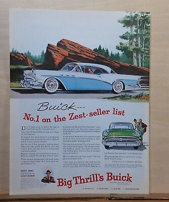 1957 magazine ad for Buick - No. 1 on ZEST seller list, 1957 Buick Special