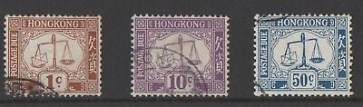 Asia - Hong Kong - Postage Dues - Fine Used / Never Hinged - Clean Lot!!!