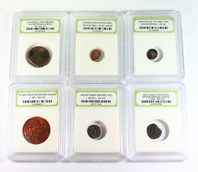 Historic Ancient Coin Lot - 6 Different Coins - Exact Coins Shown rm2783